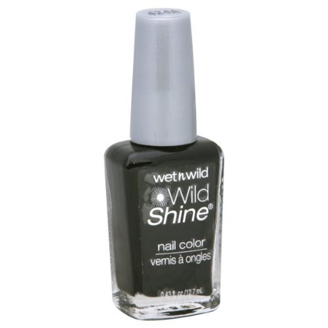 小間魅了するポップWet N Wild Shine Nail Color: Black