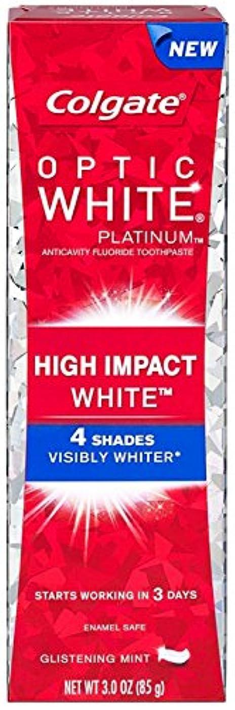 文明化する浸透する知り合いColgate コルゲート High Impact White ハイインパクト ホワイト 85g OPTIC WHITE