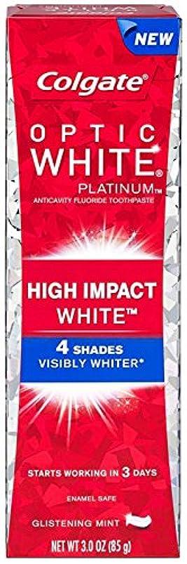 喉頭色文字Colgate コルゲート High Impact White ハイインパクト ホワイト 85g OPTIC WHITE