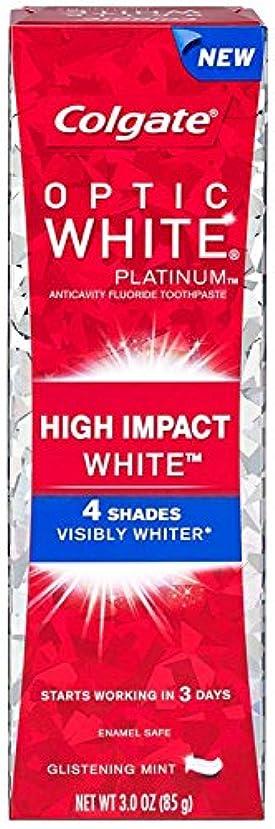 伸ばす別に銃Colgate コルゲート High Impact White ハイインパクト ホワイト 85g OPTIC WHITE