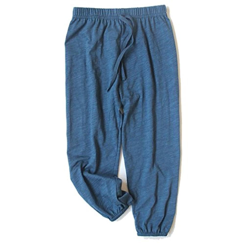 [オチビ] スエット 下 クロップ 薄手 ダンス ロング パンツ ズボン ベビー キッズ 子供 服 90~140