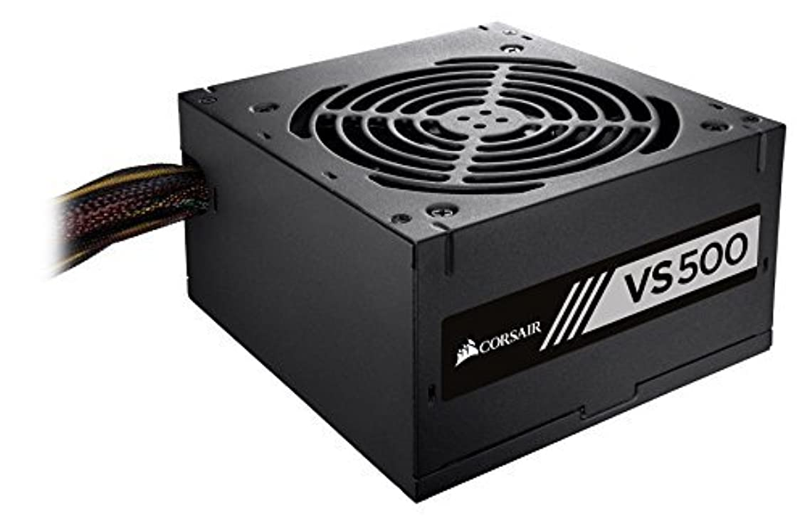 パースブラックボロウそっと識字Corsair VS Series VS500 500 Watt (500W) Active PFC 80 PLUS White Certified Power Supply [並行輸入品]