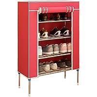 金属ブラケット靴ラック、防塵アセンブリ靴ラック寮ルーム入り口多層靴ラック60 * 28 * 85CM (色 : Red, サイズ さいず : 60 * 28 * 85CM)