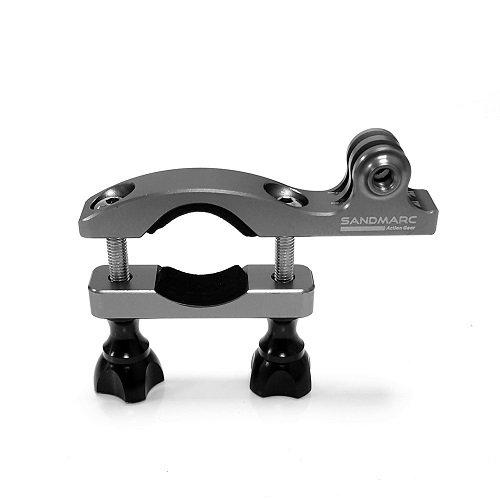 SANDMARC Navyマウント: 15–35mm all-aluminumハンドルバーシートポスト、自転車、スキーポールマウントのGoPro Hero 6、Hero 5、Hero 4、3、2、3+ HDカメラ