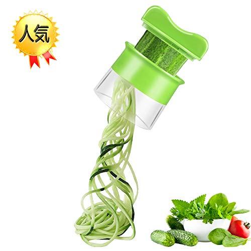 スパイラル カッター CELIFE 野菜カッター スパイラルスライサー ベジヌードルカッター じゃがいも 人参 きゅうりカッター 緑色