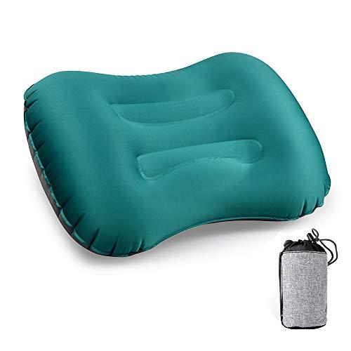 エアーピロー,CCYCCL 超軽量 コンパクト 柔らかい キャンプ枕 空気枕 携帯クッション 旅行・キャンプ・車中泊・アウトドア 収納ポーチ付き