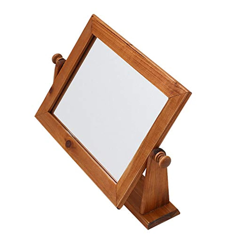 純木化粧鏡、デスクトッププリンセスミラーヨーロッパ現代のカウンタートップミラー浴室シングルミラー小さなミラー