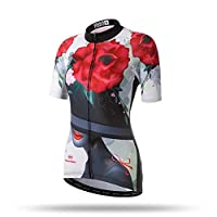 Tenflow サイクルジャージ レディース サイクリングウェア 半袖 上着 サイクリングジャージ 吸汗 夏 女性用 019-xhyd-nsy(XXL 色8)
