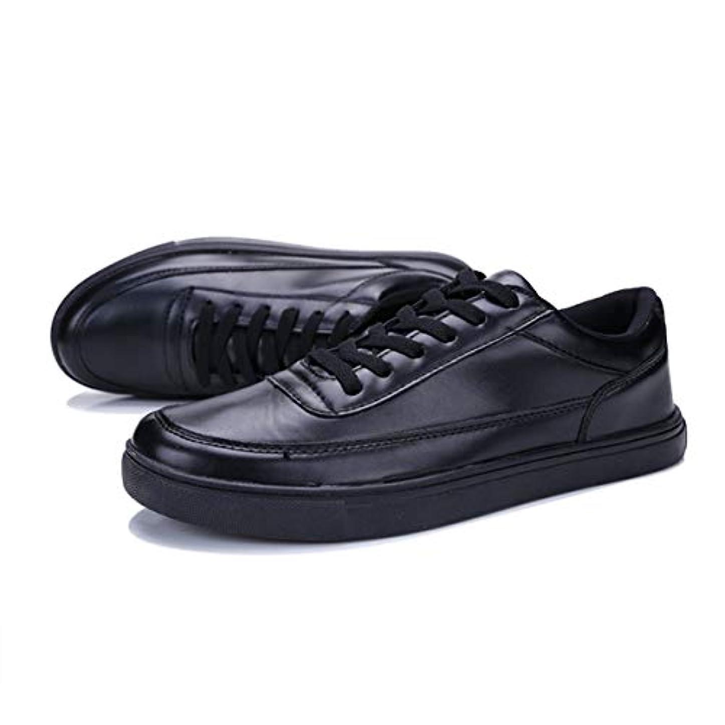 注入チャペルパッド夏の新しいメンズスモールフレッシュレザースケートボードメンズシューズファッションネクタイ学生タイドシューズ1715ブラック-ブラック41