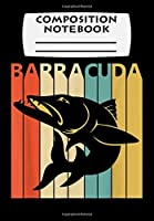 Composition Notebook: Vintage Wild Animal Barracuda Fish, Journal 6 x 9, 100 Page Blank Lined Paperback Journal/Notebook
