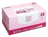 【ケース販売】 クレシア カウンタークロス 厚手タイプ ピンク 60枚/BOX ×6BOX入 65322
