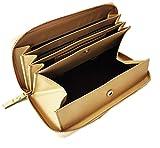 aimablerito ラウンドファスナー長財布 レザー ボックス型コインケース搭載 GL (b. ゴールド)