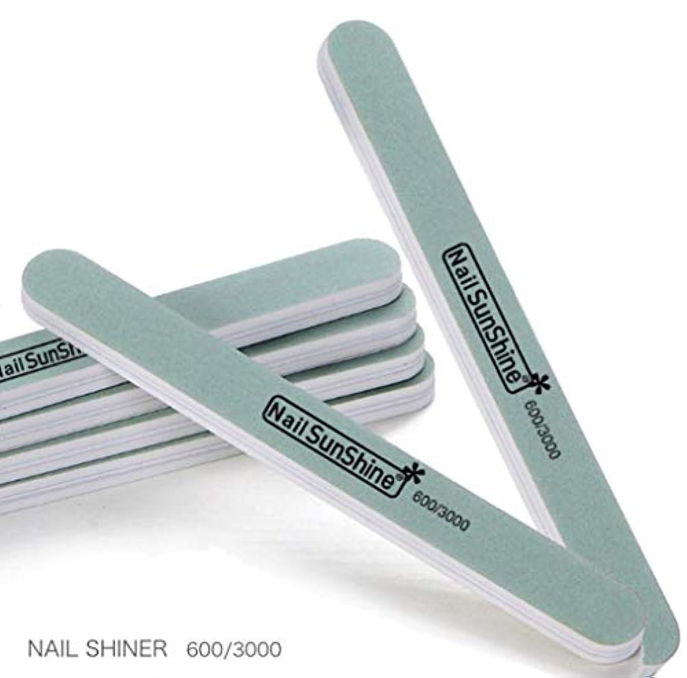 リズミカルな変わる埋めるBEATON JAPAN 爪磨き ネイル ファイル シャイナー バッファー 600/3000 ネイルケア 10本セット