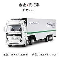 シミュレーション 1:48 金属合金 Diecasts 貨物トラック車モデル分離可能容器タンクトラックプルバックリターントラック子供のためのギフト