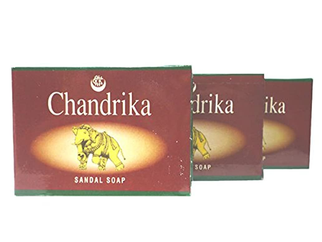 天文学傷つきやすい無声でCANDRIKA SANDAL SOAP チャンドリカ サンダル ソープ 3個セット(チャンドリカSA石鹸)