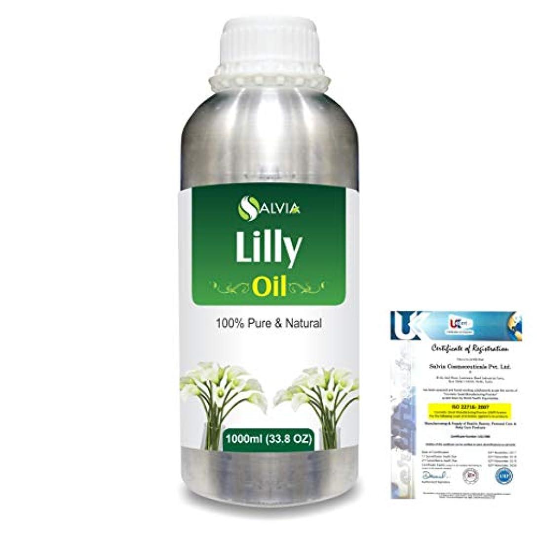 ダニ入り口第四Lilly (Lilium auratum) 100% Natural Pure Essential Oil 1000ml/33.8fl.oz.