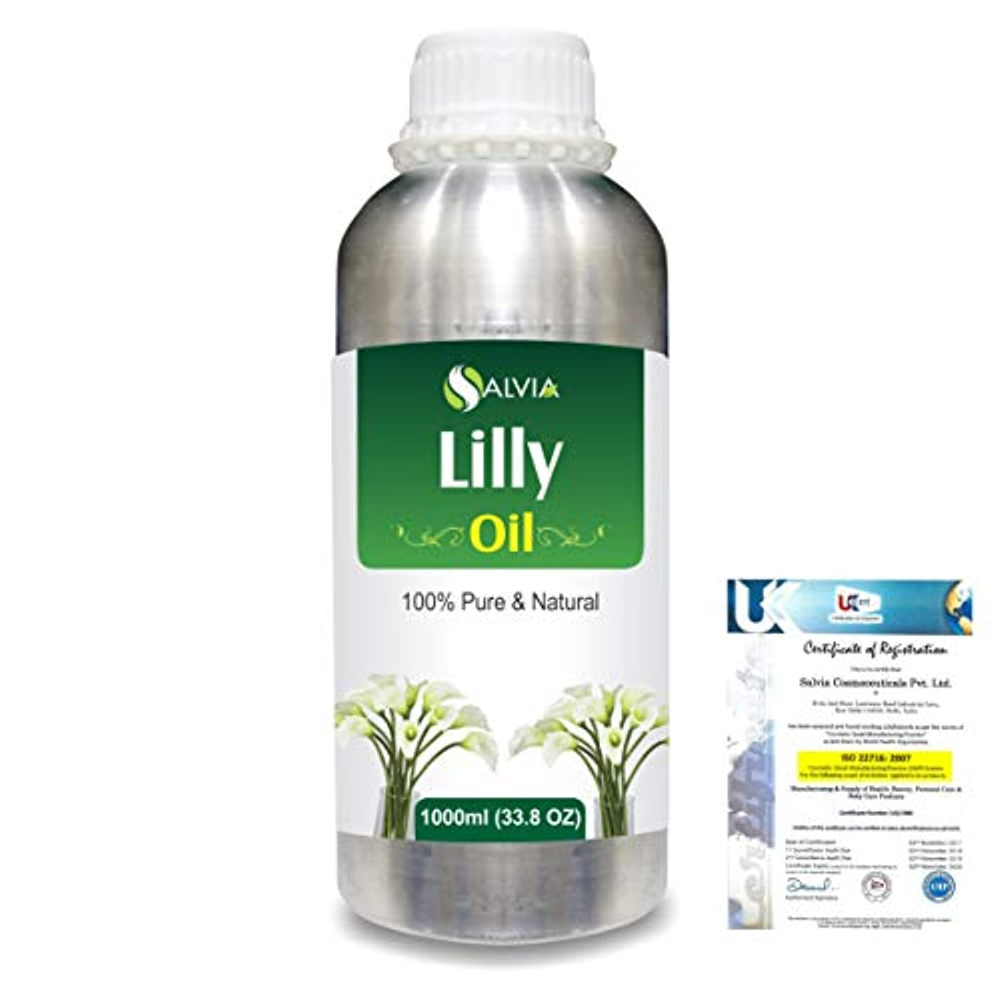 ラボ減るするだろうLilly (Lilium auratum) 100% Natural Pure Essential Oil 1000ml/33.8fl.oz.