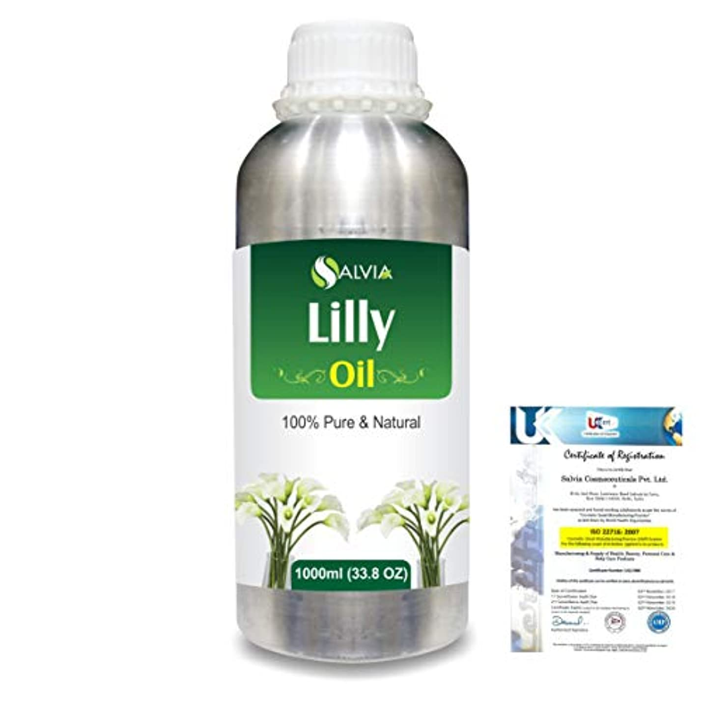 ライセンスコマンド暴露Lilly (Lilium auratum) 100% Natural Pure Essential Oil 1000ml/33.8fl.oz.