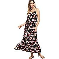 Milumia Women's Spaghetti Strap Cami Slip Maxi Dress