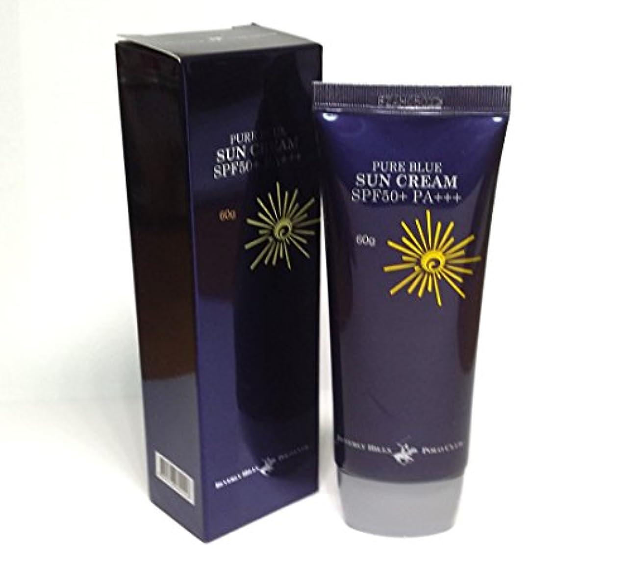 本体揺れる油[BEVERLY HILLS POLO CLUB] ピュアブルーサンクリームSPF50 + PA +++ 60g X 1ea / 韓国化粧品 / Pure Blue Sun Cream SPF50+ PA+++ 60g...