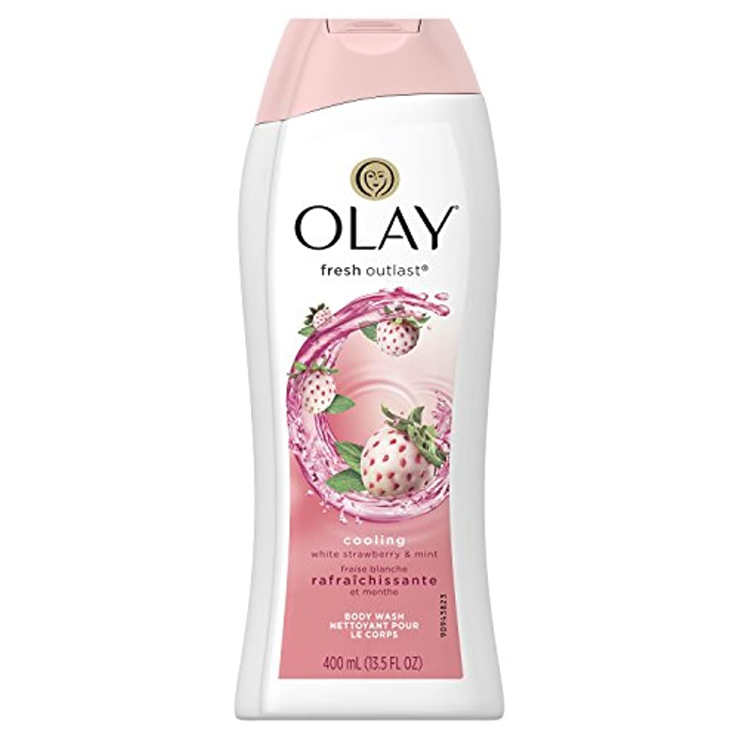 コマース感謝横たわるFresh Outlast Body Wash Cooling white Strawberry & Mint