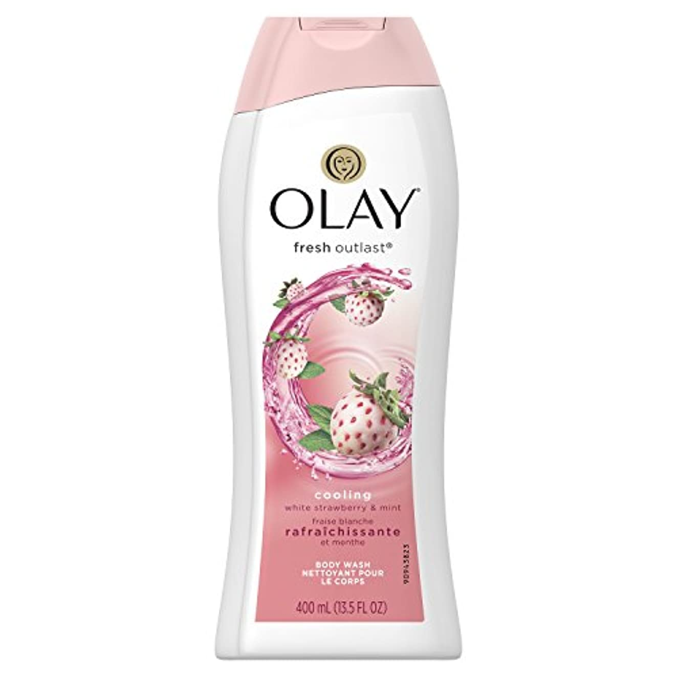 未知のストレスの多い注目すべきFresh Outlast Body Wash Cooling white Strawberry & Mint