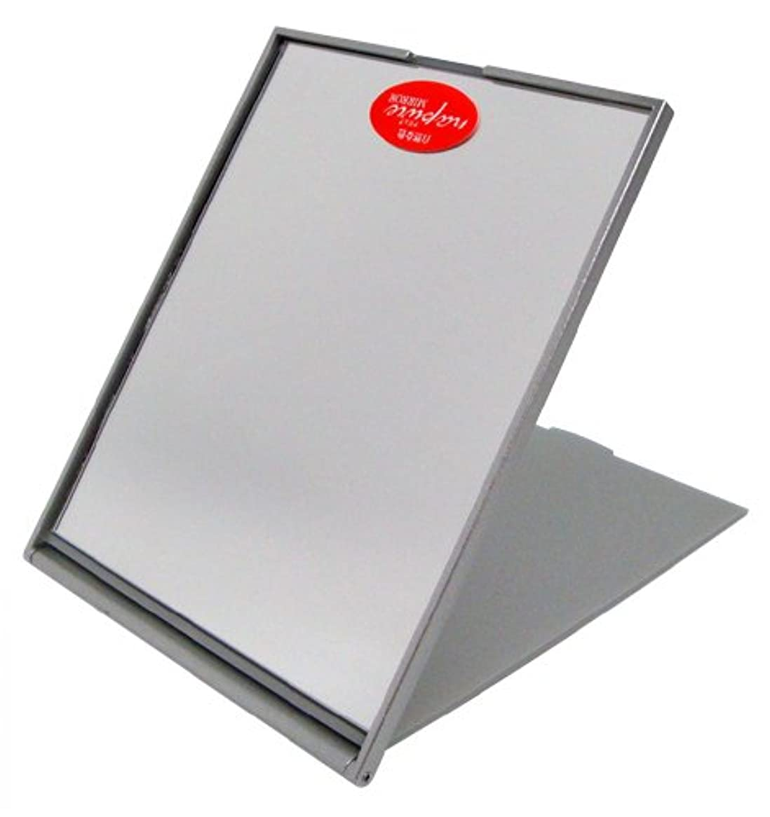 上級ペン過ちナピュア スリム&ライトコンパクトミラー(M) メタリックシルバー