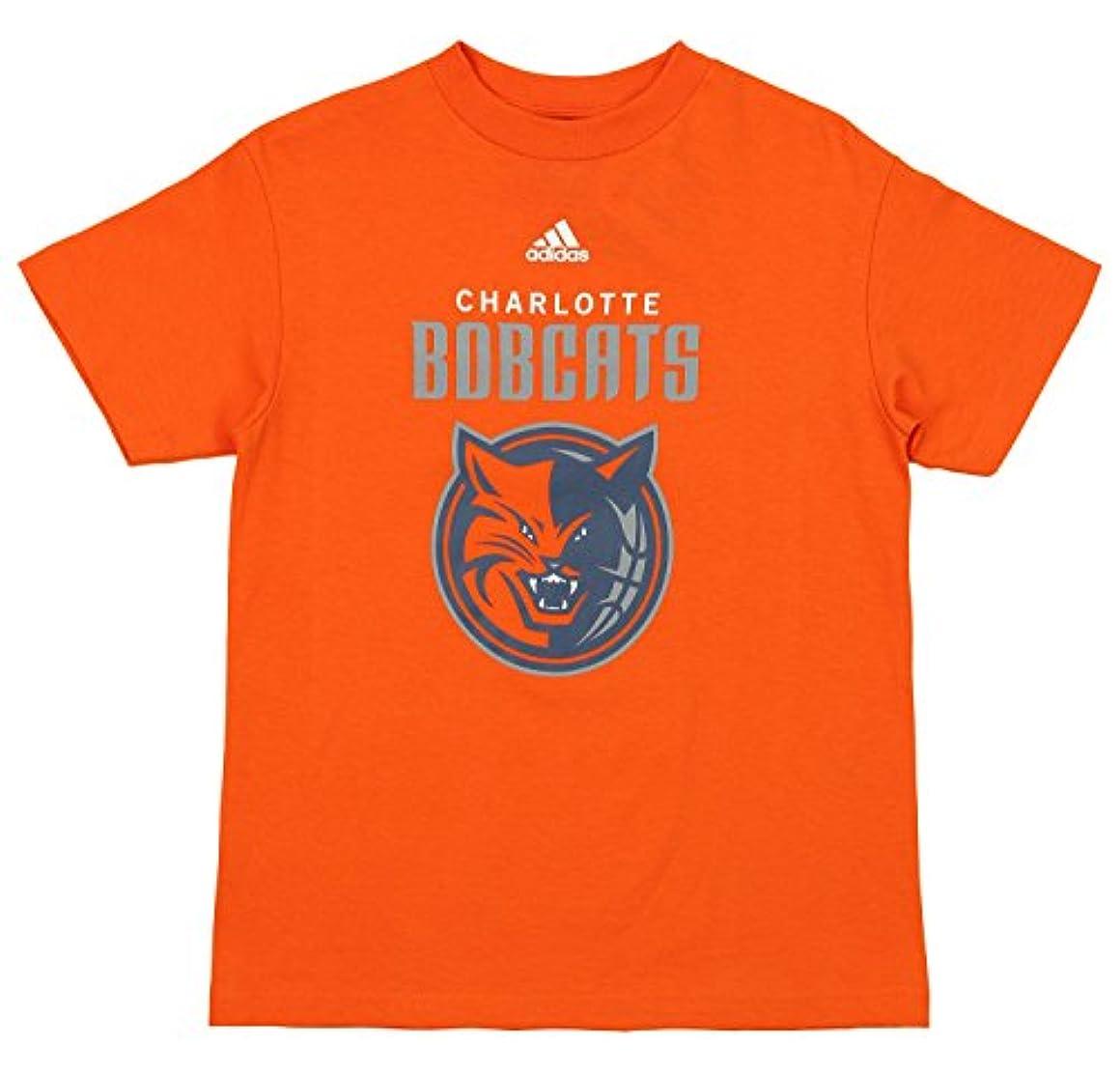 解くバッチ町Adidas NBA Youth 's Charlotte BobcatsチームロゴTシャツ、スリーブオプション Large (14-16) オレンジ