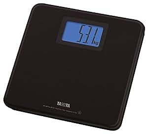 タニタ デジタルヘルスメーター HD-662-BK(ブラック) 乗るだけで電源ON/見やすいバックライト付き