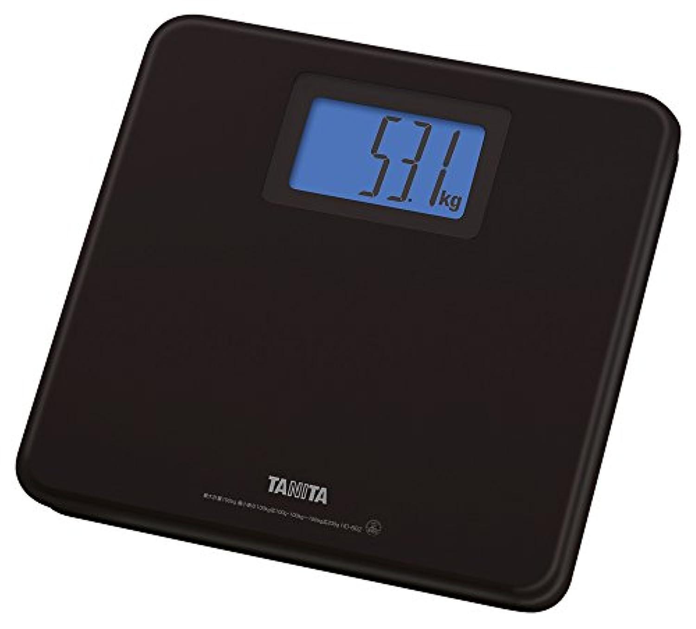 TANITA 【乗るとスイッチが入るステップオンタイプ/バックライト付き】 デジタルヘルスメーター ブラック HD-662-BK