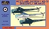 LFモデル 1/72 イギリス海軍 ウェストランド・シコルスキー WS-51 ドラゴンフライ HR.Mk.1/5 プラモデル LFMPE7235