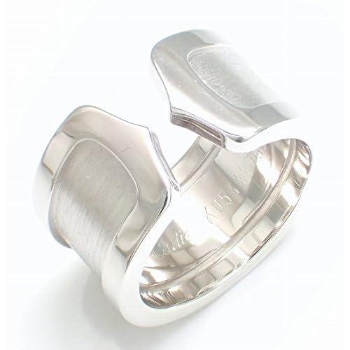 [カルティエ] Cartier C2 2C リング LM ウェディングリング 指輪 K18WG 750WG ホワイトゴールド #47 B4040647