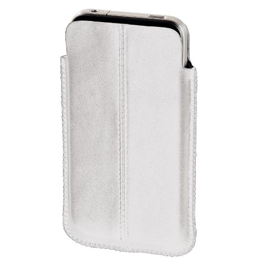 うなり声あらゆる種類の法的エツミ hama iPhone4/4S用 スリーブポーチ ホワイト 107132