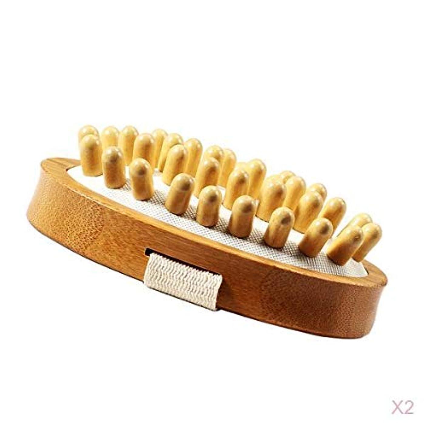 思いやりのある感謝祭ローマ人マッサージブラシ ボディーブラシ セルライト 角質除去 健康グッズ 2個入