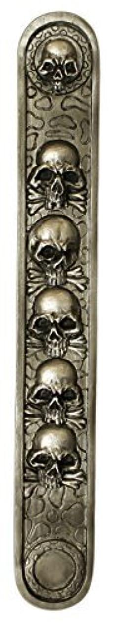 彫る熟すトライアスリートドクロデザイン インセンスバーナー/アッシュキャッチャー 樹脂製 10インチ