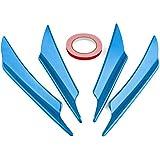 Ruien 汎用 カナード フロントパンパー スポイラー 四枚セット (blue)