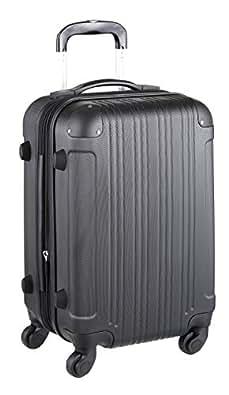 スーツケース(LEGEND WALKER:レジェンドウォーカー)SSサイズ(1泊 2泊 3泊)ファスナー機内持込サイズ ブラック 5082-48-BK