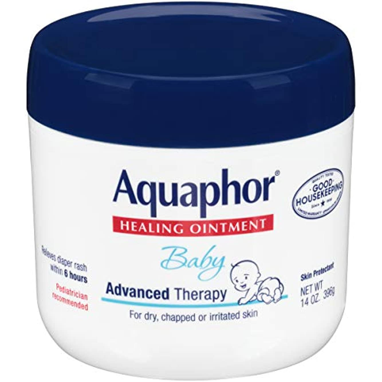 自動化誰の頬Aquaphor Baby Healing Ointment Advanced Therapy Skin Protectant