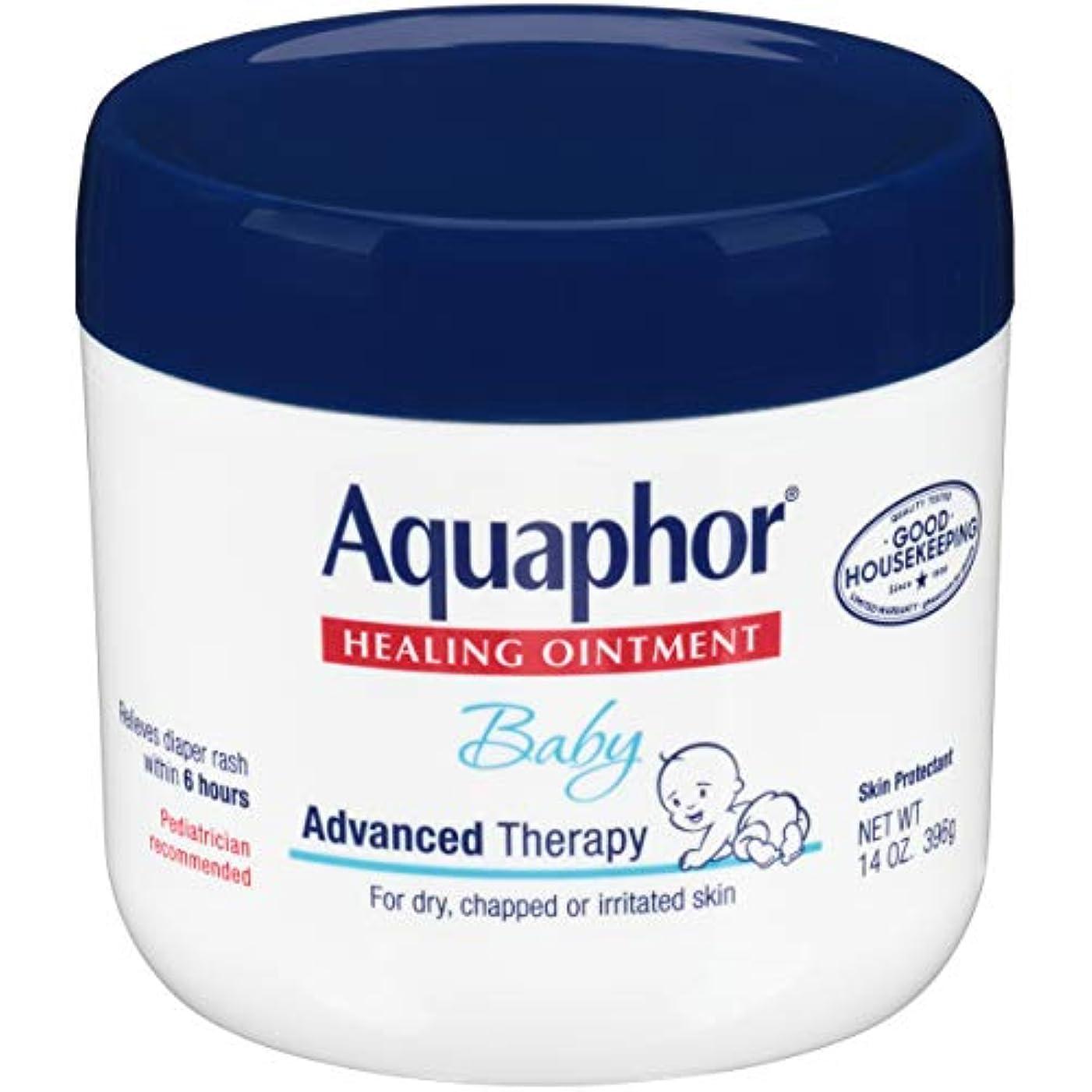 崖定期的な革新Aquaphor Baby Healing Ointment Advanced Therapy Skin Protectant