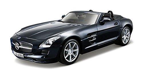 マイスト Maisto メルセデスベンツ SLS AMG ロードスター  Mercedes Benz SLS AMG Roadster in Metallic Blue 1/24 組立品 39278MBL [並行輸入品]