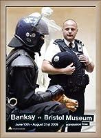 ポスター バンクシー banksy bristol museum poster 額装品 ウッドベーシックフレーム(オフホワイト)