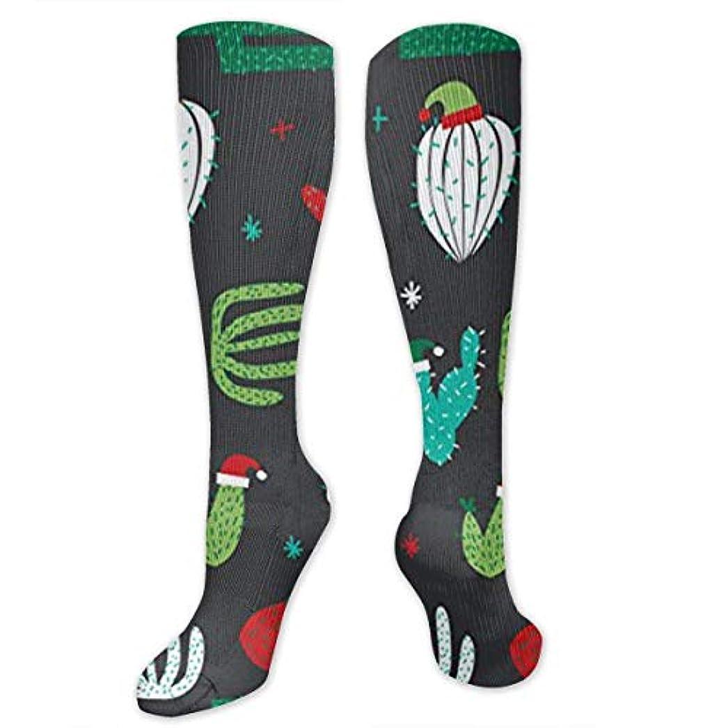 気付く太い定説靴下,ストッキング,野生のジョーカー,実際,秋の本質,冬必須,サマーウェア&RBXAA Christmas Cactus Santa Hat Socks Women's Winter Cotton Long Tube Socks...