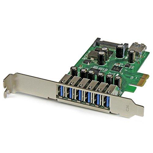 StarTech.com 7ポートUSB 3.0増設PCIeカード USB 3.0拡張PCIe x1接続ボード(外部6ポート/内部1ポート) ロープロファイル規格にも対応 PEXUSB3S7