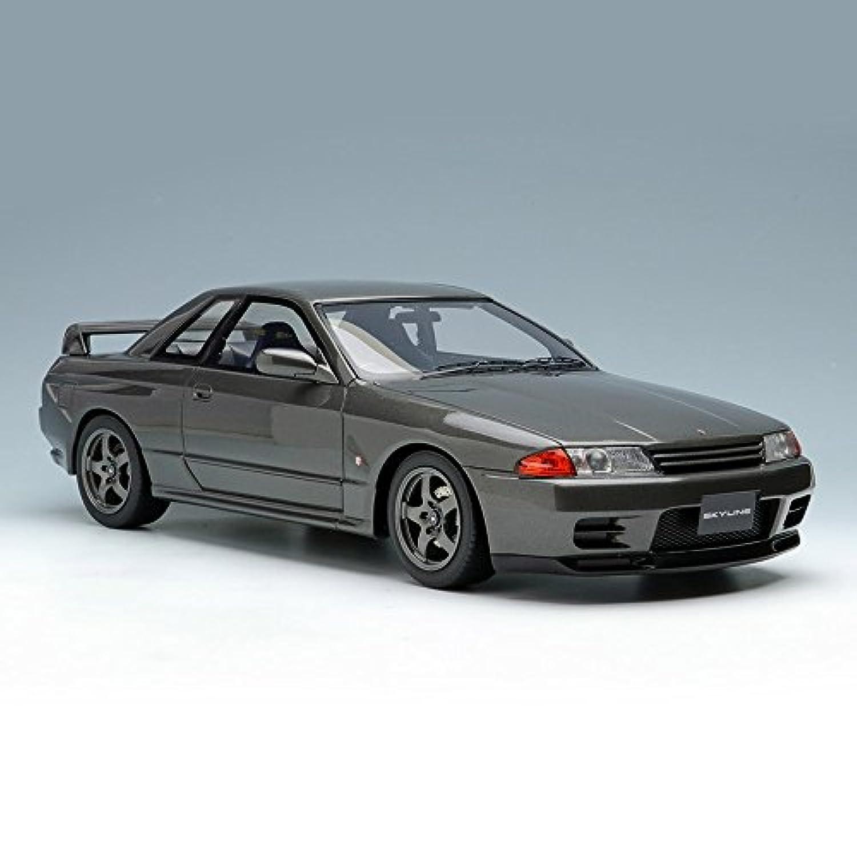 メイクアップ IDEA 1/18 NISSAN SKYLINE GT-R (BNR32) 1993 ガングレーメタリック 完成品