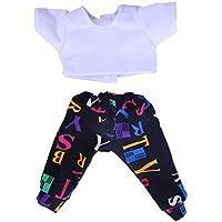 Dovewill 5色選ぶ 人形 ドール用アクセサリー ファッション Tシャツ トップ ズボン スーツ - カラー#4