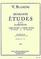 ブランクー: 40の旋律的で発展的な練習曲 第1巻/ルデュック社/クラリネット教本・練習曲