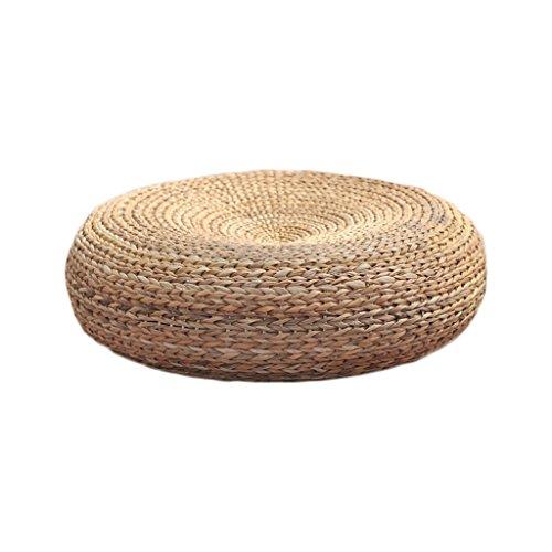 ストロー布団クッション厚い籐瞑想演奏クッションボウダウンヨガマットバットパッドラウンドシット桟橋 ( 材料 : #2 , サイズ さいず : 50*50cm )