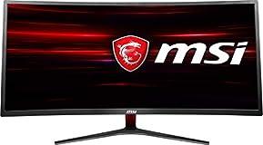 MSI Optix MAG341CQ 湾曲 34インチ ゲーミングモニタ UWQHD 対応 ウルトラワイド (3440×1440) 3年保証 MN414