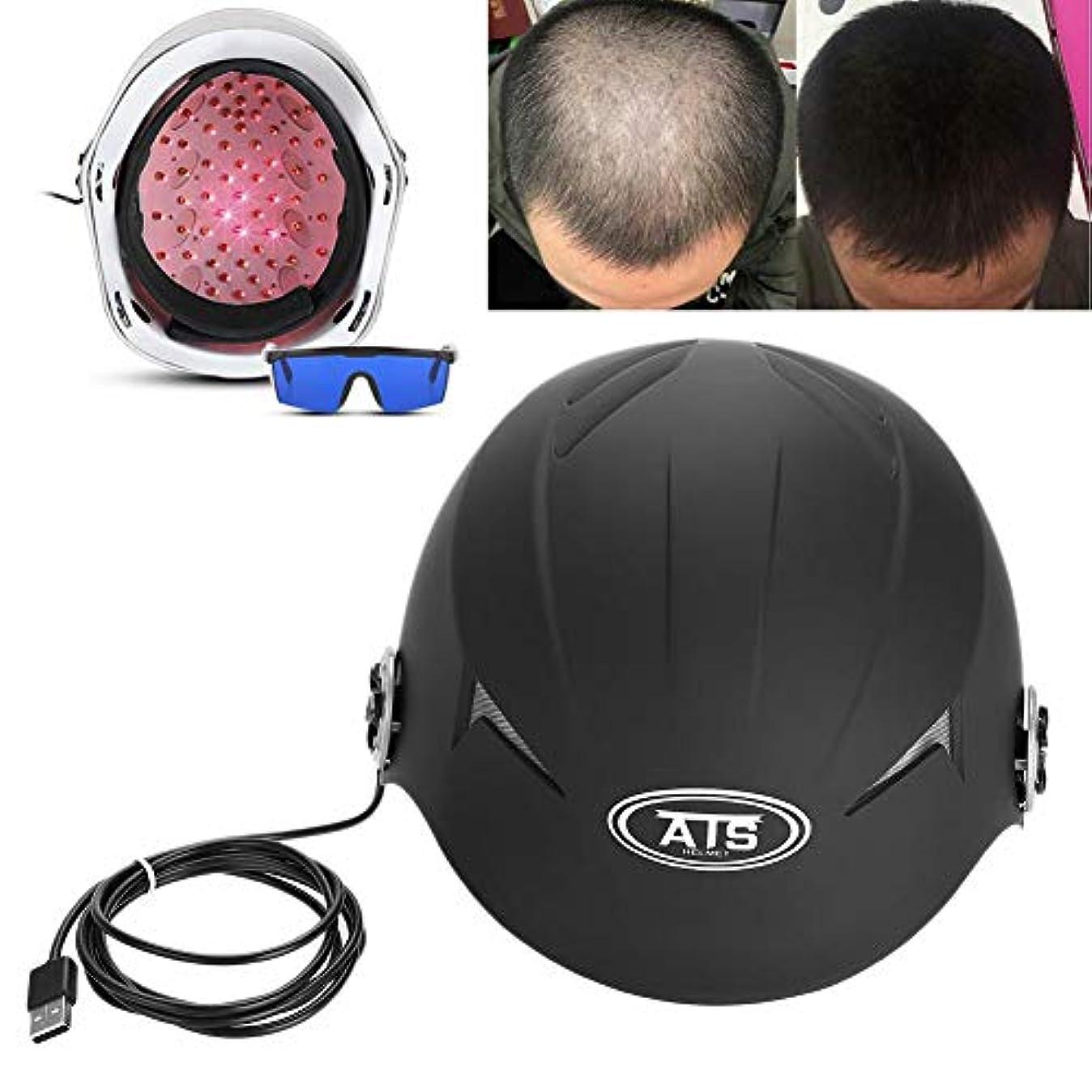 ウェブ災難間違い脱毛キャップ、脱毛ヘルメット、脱毛を減らす、女性と男性の脱毛ケア用のヘアキャップヘルメット, ヘアリグローヘルメットファストグローストリートメントキャップ脱毛ソリューションメンズレディース