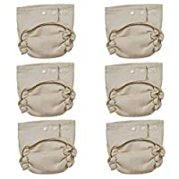 Osocozy Two Sized Unbleached Fitted Diaper - 6 pack - Size 2 [並行輸入品]